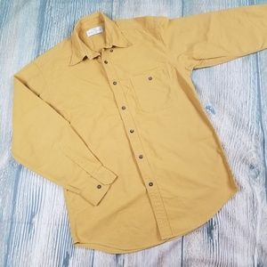 MARKS & SPENCER yellow button down shirt
